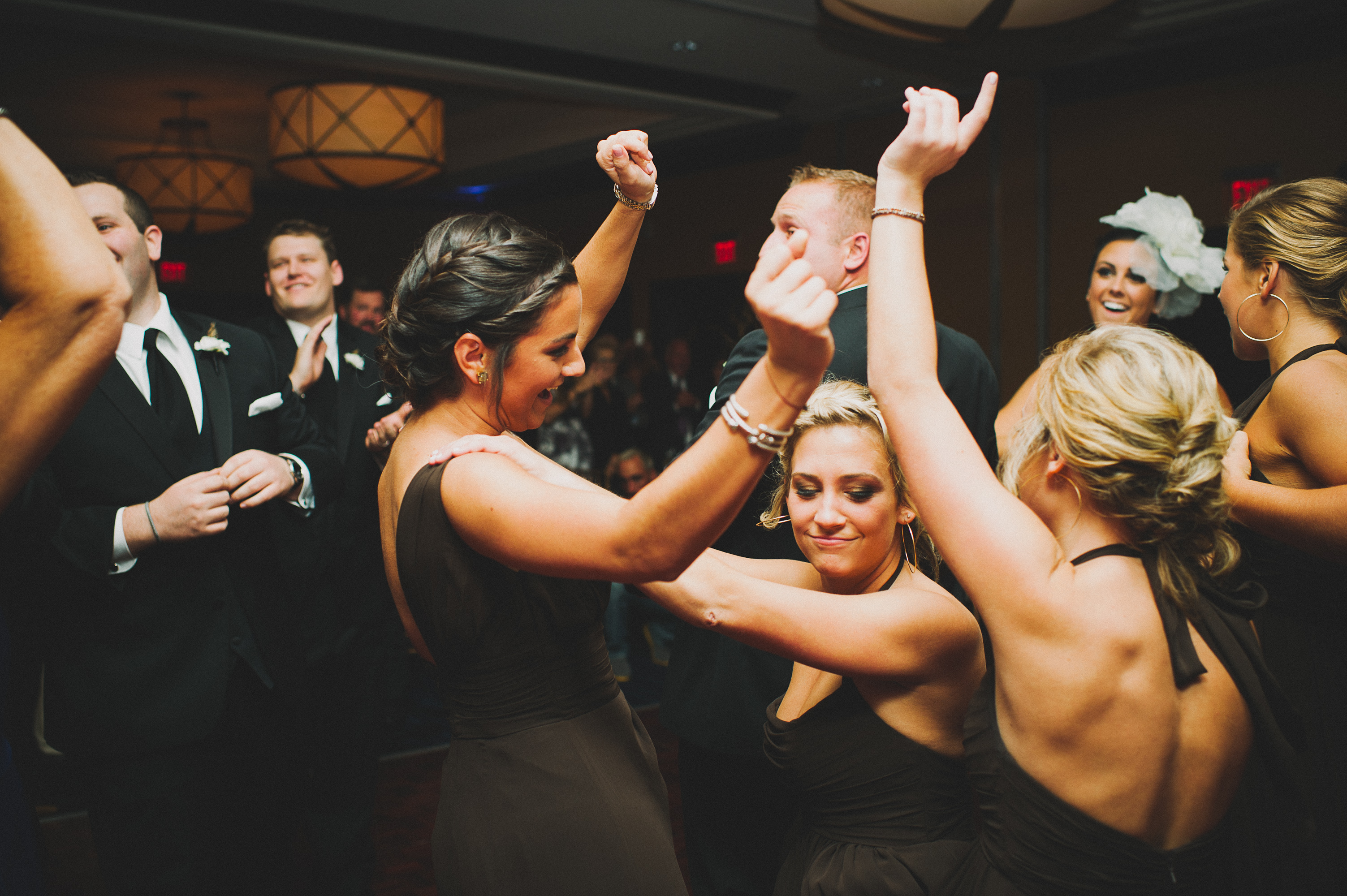 Bridesmaids dancing at Hotel Marlow Wedding