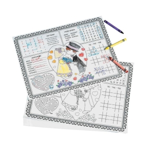 Wedding Placemat For Kids