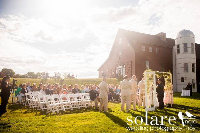 Wedding Ceremony at Barn at Gibbet Hill