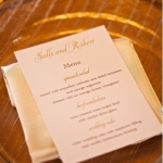 Sample Menu - Wedding at Steeple Hall
