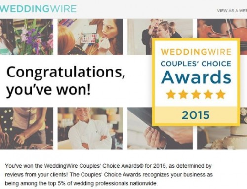 We Won –  Couples' Choice Award 2015 !
